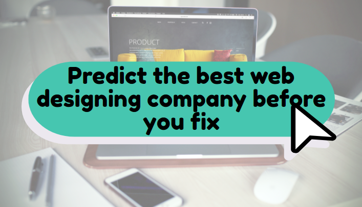 Predict the best web designing company before you fix